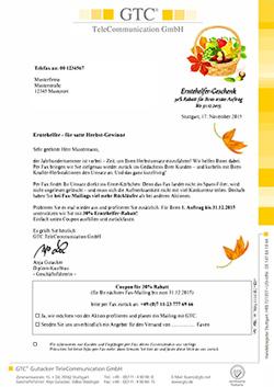 Zustellgarantie - per E-Mail, Fax oder Brief
