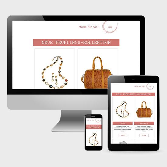 Beispiel 1 Gestaltung E-Mail Marketing